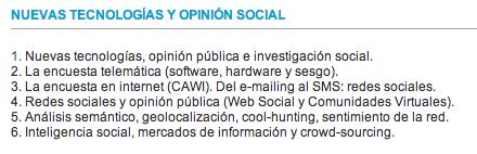 Máster en Gestión de la Opinión Pública 2ª ed. (Valencia, 2014)